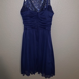 B. Darlin Blue Size 2 Homecoming Straight Dress on Queenly