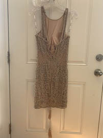 Sherri Hill Nude Size 4 Backless Jewelled Sequin Ball gown on Queenly