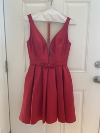 Queenly size 6 Sherri Hill Red Ball gown evening gown/formal dress