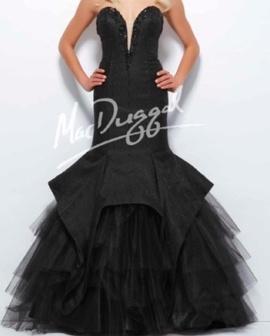 Mac Duggal Black Size 6 Tulle Medium Height Mermaid Dress on Queenly