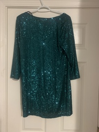 Lulus Green Size 8 Shiny Cocktail Dress on Queenly