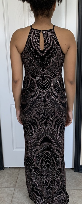 Jump Black Size 2 Prom Halter Pattern Straight Dress on Queenly