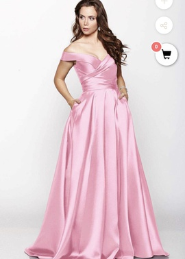 Queenly size 0 Milano Formals Pink A-line evening gown/formal dress
