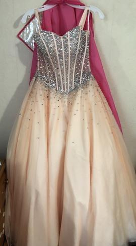Jovani Orange Size 2 Peach Ball gown on Queenly
