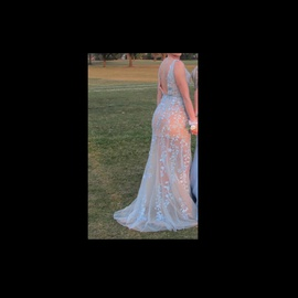 Sherri Hill Light Blue Size 4 Prom Straight Dress on Queenly