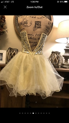 Sherri Hill Yellow Size 2 Sweetheart Corset Strapless Ball gown on Queenly