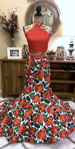 Sherri Hill Red Size 8 Two Piece Mermaid Ball gown on Queenly