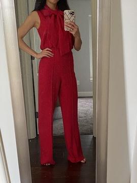 Antonio Melani Red Size 0 Jumpsuit Romper/Jumpsuit Dress on Queenly