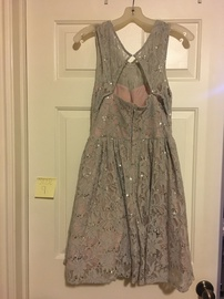 Jodi Kristopher Silver Size 8 A-line Dress on Queenly