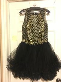Queenly size 14  Multicolor A-line evening gown/formal dress