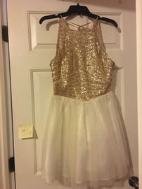 Gold Size 10 A-line Dress on Queenly