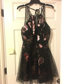 Queenly size 12  Multicolor A-line evening gown/formal dress