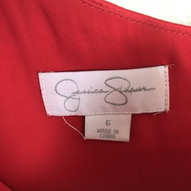 Jessica Simpson Red Size 6 Sleeves Cocktail Dress on Queenly