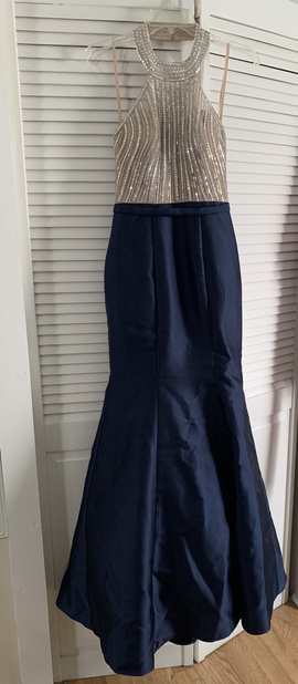 Queenly size 2 Xscape Blue Mermaid evening gown/formal dress