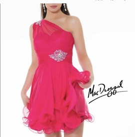 Mac Duggal Pink Size 2 Fun Fashion Cocktail Dress on Queenly