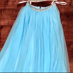 Sherri Hill Blue Size 2 Jewelled Halter Ball gown on Queenly