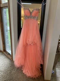 Queenly size 00 Night Moves Orange Cocktail evening gown/formal dress