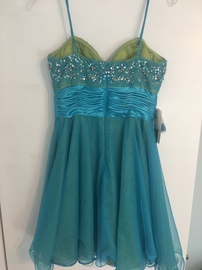 Adrianna Papell Blue Size 8 Green Cocktail Dress on Queenly