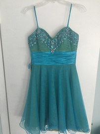 Queenly size 8 Adrianna Papell Blue Cocktail evening gown/formal dress