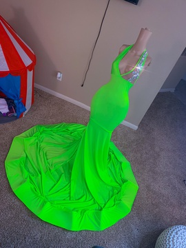Queenly size 32  Green Mermaid evening gown/formal dress