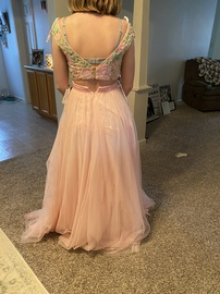 Sherri Hill Pink Size 2 Pattern Floral Prom Ball gown on Queenly