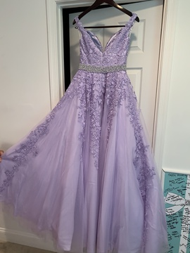 Jovani Purple Size 6 Ball gown on Queenly