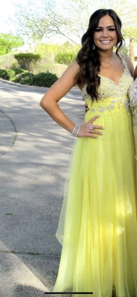 Sherri Hill Yellow Size 4 Prom Jewelled Short Height A-line Dress on Queenly