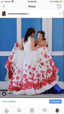 Sherri Hill White Size 00 Prom Floral Pageant Train Ball gown on Queenly
