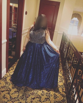 Queenly size 20  Blue Ball gown evening gown/formal dress