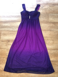 Queenly size 14 Onyx Nite Purple Straight evening gown/formal dress