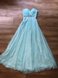 Blue Size 00 Straight Dress on Queenly