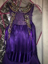 Coya Collection Purple Size 2 Sequin Halter Ball gown on Queenly