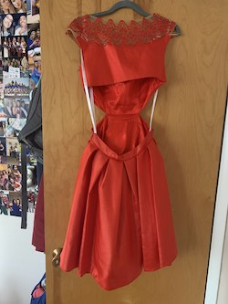 Queenly size 4 Sherri Hill Red Cocktail evening gown/formal dress