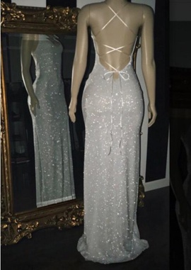 Silver Size 2 Side slit Dress on Queenly