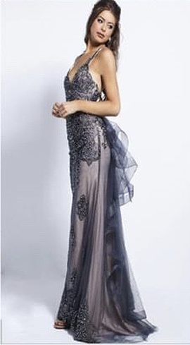 Style 53188 Jovani Multicolor Size 4 Prom Pattern Mermaid Dress on Queenly