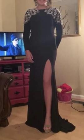Mac Duggal Black Size 0 Macduggal Side slit Dress on Queenly