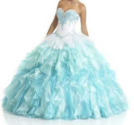 Queenly size 6 Bonny Bridal Multicolor Ball gown evening gown/formal dress