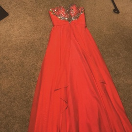 Orange Size 6 Straight Dress on Queenly