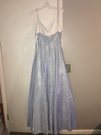 Silver Size 16 Ball gown on Queenly