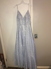 Queenly size 16  Silver Ball gown evening gown/formal dress