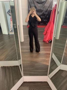 Black Size 6 Romper/Jumpsuit Dress on Queenly