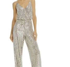 Queenly size 2 Aidan Mattox Gold Romper/Jumpsuit evening gown/formal dress