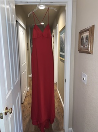 Faviana Red Size 6 Prom Backless Tall Height Mermaid Dress on Queenly