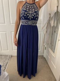 Queenly size 6 Windsor Blue Straight evening gown/formal dress