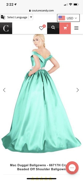 Green Size 10 Ball gown on Queenly