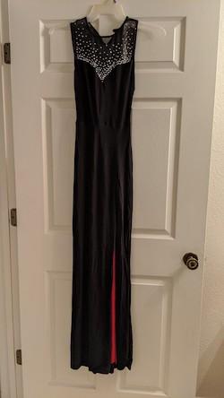 Queenly size 4 B. Darlin Black Side slit evening gown/formal dress