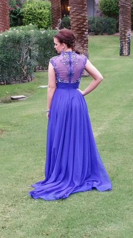 Mac Duggal Blue Size 4 Prom A-line Dress on Queenly