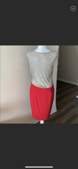 Xscape Red Size 12 Cocktail Dress on Queenly