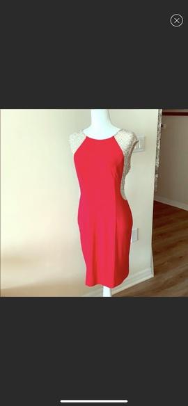 Queenly size 12 Xscape Red Cocktail evening gown/formal dress