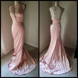 Queenly size 8 Sherri Hill Pink A-line evening gown/formal dress
